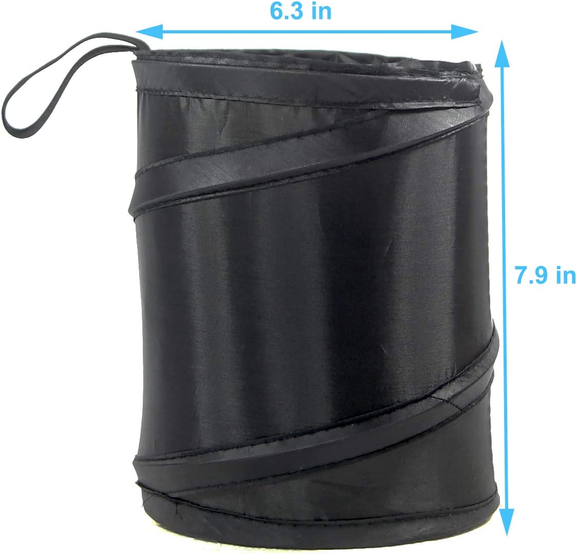 Kitbest Car Trash Can Auto Garbage Bin Collapsible Pop Up Trash Garbage Bag for Car Console Trash Container 2 Pack Automobile Waste Basket Small Portable Vehicle Trashcan