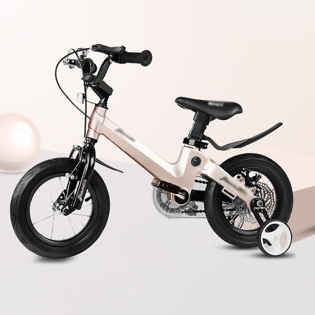 18インチの男の子と女の子サイクリング子供の自転車自転車バイク2-4-6-7-8-9-10歳のベビーキャリッジのベビーカーブルーピンクゴールド B07DXCYD9D ゴールド ゴールド