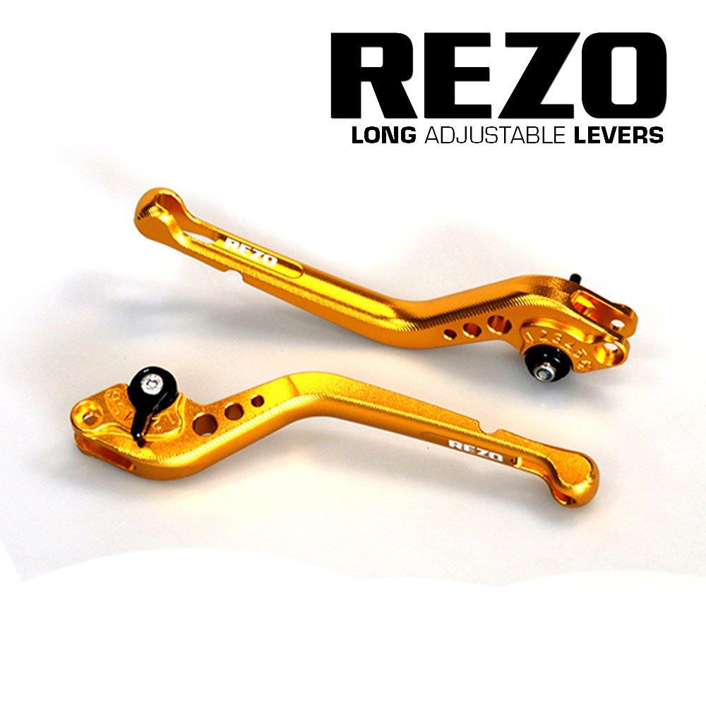 Rezo REZ-SETV2-1-GLD-0039 V2 - Palancas largas ajustables CNC para moto para modelos KTM, color dorado China