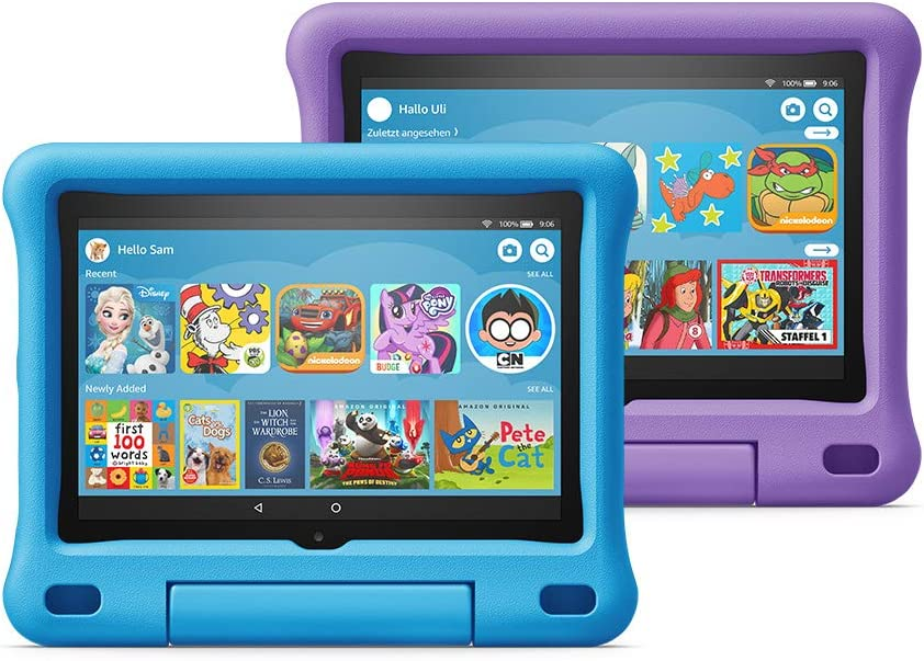 "All-new Fire HD 8 Kids Edition Tablet 2-pack, 8"" HD Display, 32 GB, Blue/Purple Kid-Proof Case"