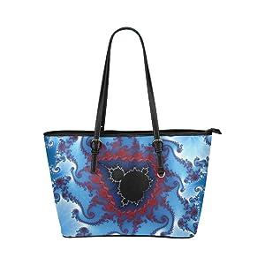 Women's Leather Large Tote HandBag Graphic Art Shoulder Bag