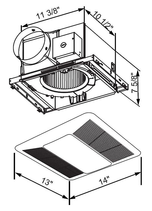 Kaze Appliance Se90tl2 Ultra Quiet 90 Cfm 0 3 Sones Bathroom Exhaust