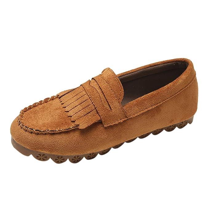Damas Mujer Moda Borla Punta Redonda Plana Mocasín Casual Zapatillas Doug Zapatos LILICAT ✈✈ 2019 Color sólido Cabeza Redonda Borla Plana Zapatos Casuales ...