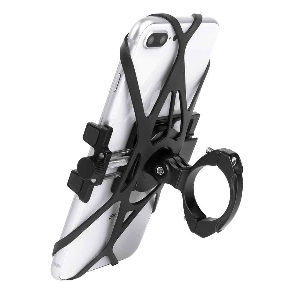 Soporte Movil Bicicleta, CHOETECH Soporte Movil Bici Montaña Carretera Soporte Universal Manillar de aluminio para Bicicleta Motocicleta para Teléfono iPhone X 8 8P 7 7P Huawei P20 Lite P10 P9 Samsung S9 GPS 4.0-6.2 Inch Teléfono Móvil RO-H024-BK