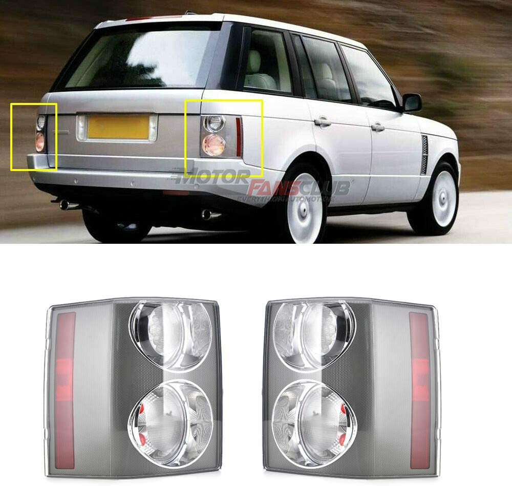 MotorFansClub Rear Tail Brake Lights Lamps Fit for Compatible with Land Rover Range Rover Hse 2002-2009 4Dr Pair