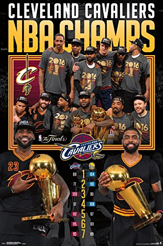 Trends International 2016 NBA Finals Celebration Cleveland Cavaliers Collector's Edition Wall Poster (36 Champs Poster)