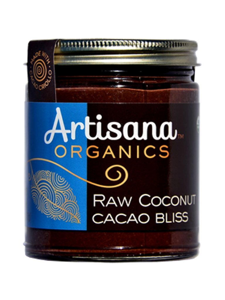 Artisana Organic Raw Coconut Butter, Cacao Bliss, 8 Ounce