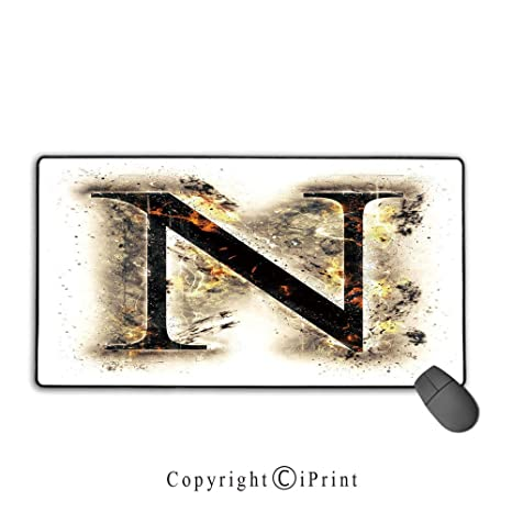 Amazon Com Gaming Mouse Pad Letter N Capital Scorched