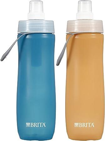 Amazon.com: Empaque de 2 botellas de agua deportivas Brita ...