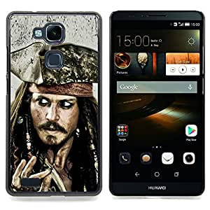 SKCASE Center / Funda Carcasa protectora - Jack Sparrow;;;;;;;; - HUAWEI Ascend MATE 7