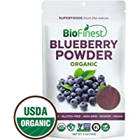 Biofinest Wild Blueberry Juice Powder - 100% Pure Freeze-Dried Superfood - USDA Certified Organic Vegan Raw Non-GMO - Boost Digestion Weight Loss - For Smoothie Beverage Blend