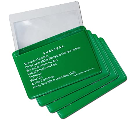 Amazon Com 5col Survival Supply Fresnel Lens 4 Pack Credit Card