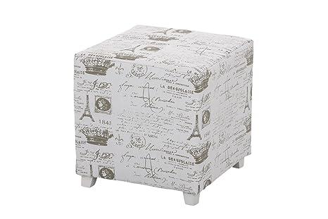 Clp sgabello cubo ariana 40 x 40 cm pouf quadrato con piedini e