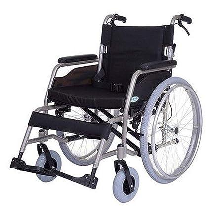 HEUFHU888 Silla de Ruedas Plegable - Silla de Ruedas ampliada Ancianos discapacitados Silla de Ruedas Manual