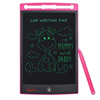 Nobes 8.5-inch LCD Writing Tablet (Upgrade Brightness),Electronic Writing Board, Doodle Pad,LCD Drawing Board eWriter, Office Whiteboard Bulletin Board Memo Notes and Gifts for Kids (8.5 inch, Pink)