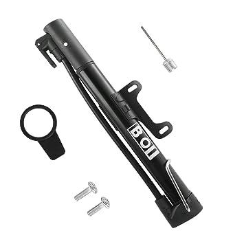 Mini Bomba para Bicicleta, Bomba de aire para Neumático Portátil, Compacta con 100 PSI