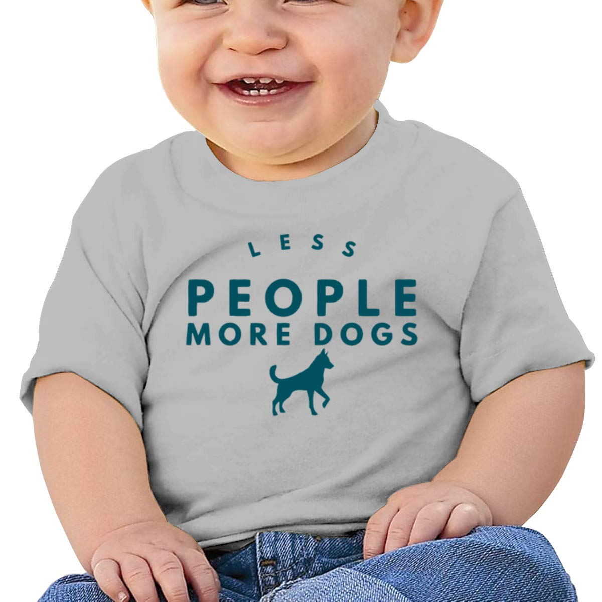 Arsmt Less People More Dogs Toddler Short Sleeve T-Shirt Girls Birthday Gift