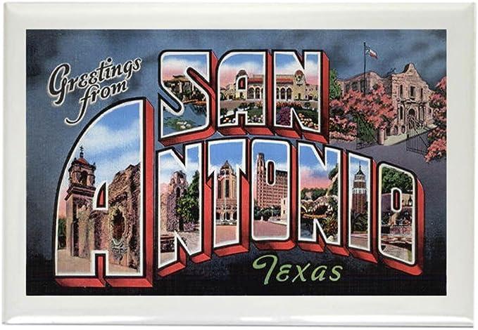 CafePress – San Antonio Texas – de felicitación rectangular imán ...