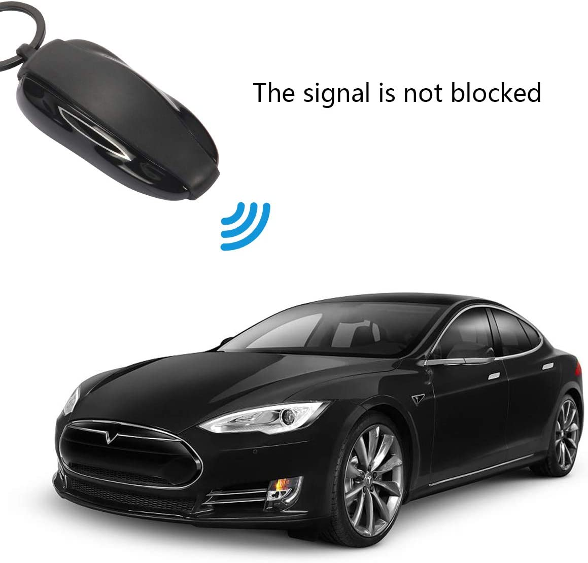 DeCuLo Key Fob Cover for Tesla Model X Silicone Car Key Cover Shell Protector Case Holder for Tesla X Accessories Black, Model X