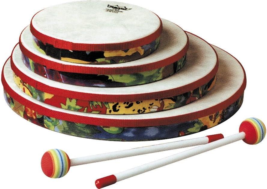 REMO Drum Fabric Rain Forest 1.25 Depth Hand Drum 14 Diameter KIDS PERCUSSION/®