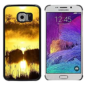 Paccase / SLIM PC / Aliminium Casa Carcasa Funda Case Cover - Sunset Beautiful Nature 100 - Samsung Galaxy S6 EDGE SM-G925