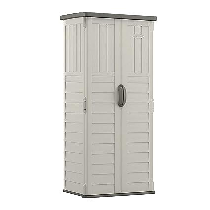 Amazon com : Suncast Vertical Tool Shed - Outdoor Storage