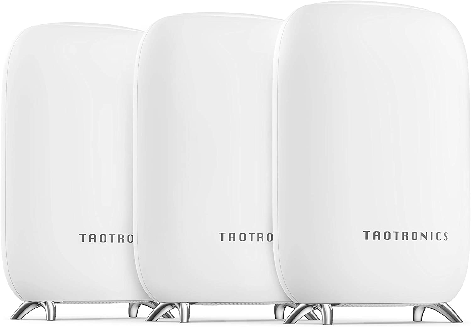 TaoTronics Mesh WiFi System, Tri-Band AC3000 3Gbps Speed 6,000 Sq. Ft Coverage Whole Home WiFi Router/Extender Replacement, 4 Gigabit Ethernet & 1 USB 3.0 Ports, Connection of up to 200 Devices-3 Pack