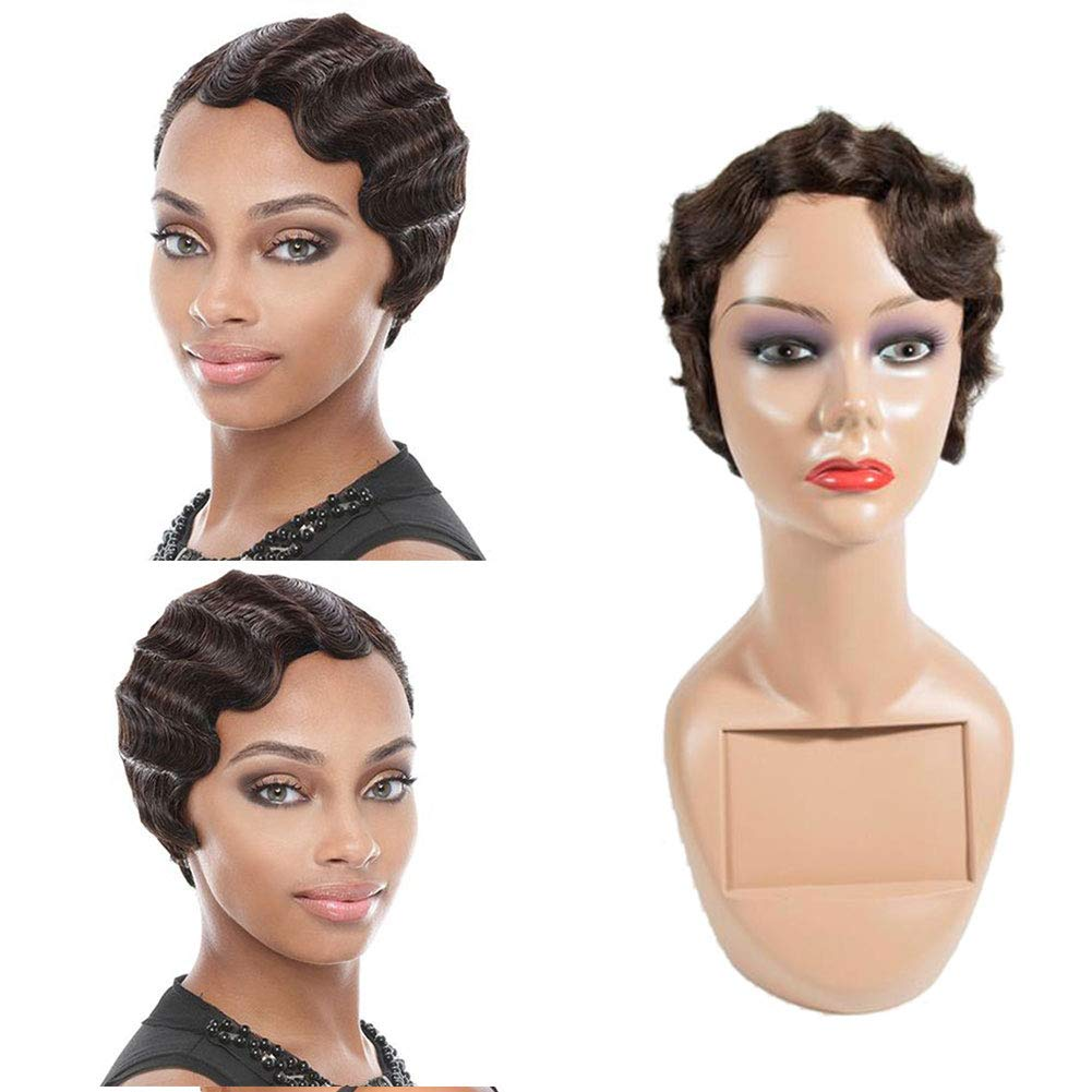 Amazon.com : WOME Brown Finger Wave Wigs