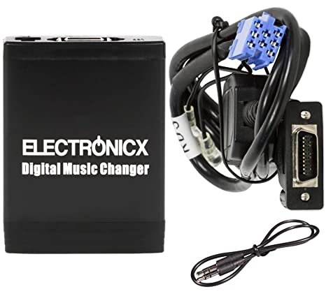 Adaptador de USB,MP3, AUX, SD, CD para Peugeot 106, 206
