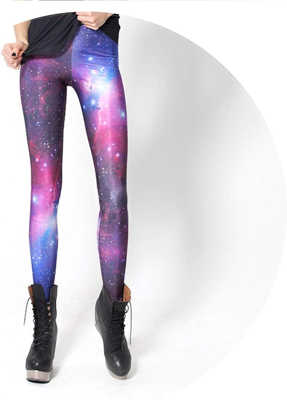 Space print leggings pants space galaxy cosmic skinny womens fashion Festival