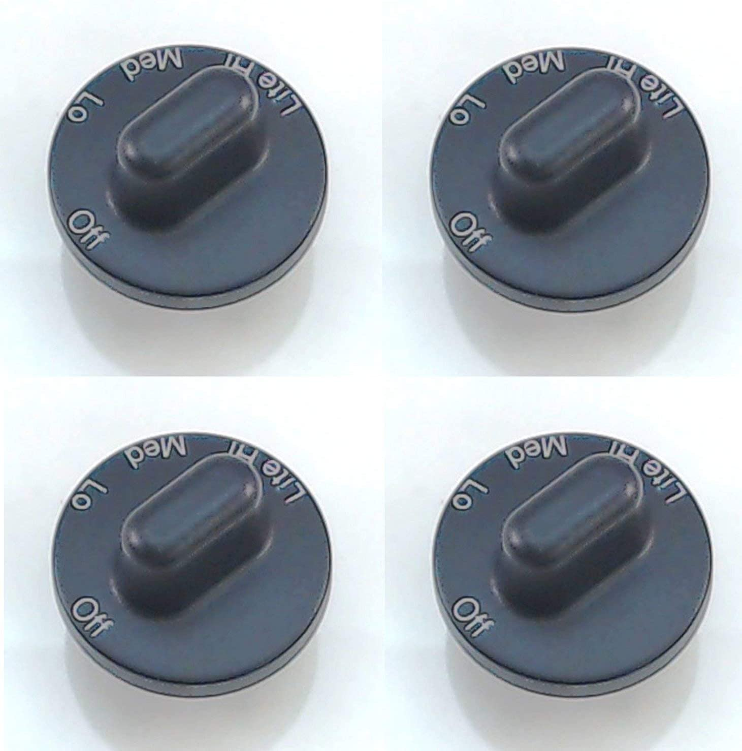 Edgewater Parts Surface Burner Knob 4 Pack Compatible with Maytag, Jenn Air, 71001641