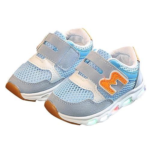 ZARLLE Casual Las Zapatillas De Deporte De Zapatos Led NiñOs NiñAs Zapatillas NiñO Malla Zapatillas para