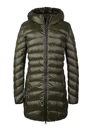 60ac75557442 FV RELAY Women s Winter Long Light Down Coat Outwear Hooded Jacket (S
