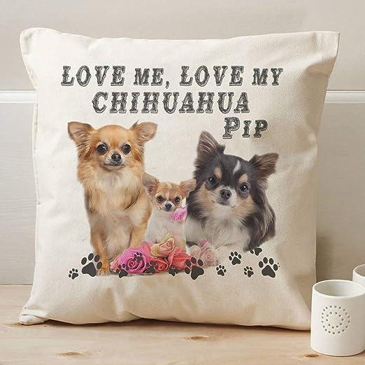 KRAFTYGIFTS Personalizado Long Haired Chihuahua Perro de ...