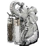 Arthur Court Designs Aluminum Elepahant Stand for Glass Hanging Salt and Pepper