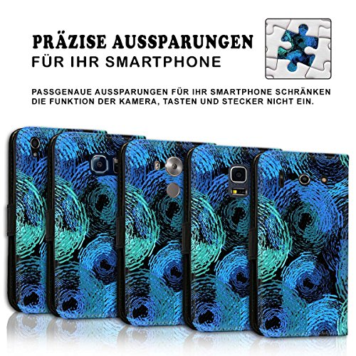 Wallet Book Style Flip Handy Tasche Case Schutz Hülle Schale Motiv Etui für Apple iPhone 6 / 6S - Design Flip MVD50