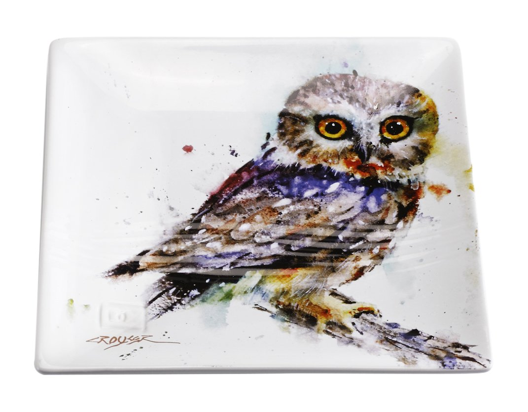 Big Sky Carvers Saw Whet Owl Snack Plate, Multicolor by Big Sky