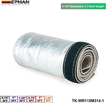 Metallic Heat Shield Thermal Sleeve Insulated Wire Hose Cover Aluminum
