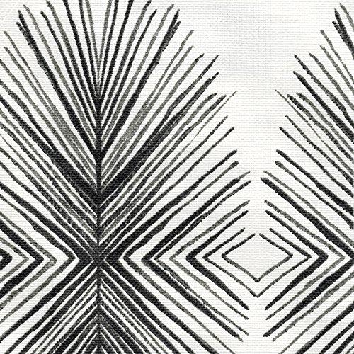 Tulum Ink Geometric Gray Bradford Valance Cotton with Bamboo Back Layer
