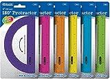 Assorted Color Semicircular 6 Inch Protractor 288 pcs sku# 1909556MA