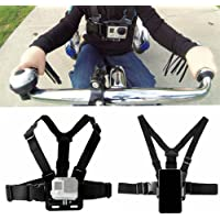 Tomcrazy Adjustable Chest Strap Harness Mount for Gopro Hero6 Black Hero 6 5 4 3 2 AKASO SJCAM Xiaomi YI Action Camera Sony Nikon Holder Support for iPhone X 8 Plus Samsung Pixel 2 XL Huawei Digital Camera