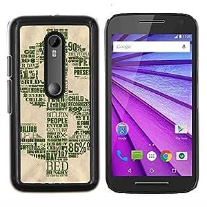 EJOOY---Cubierta de la caja de protección para la piel dura ** Motorola MOTO G3 / Moto G (3nd Generation) ** --Dólar
