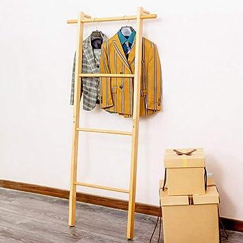 AYHa Perchero de piso de pared Escalera de esquina Sombrero y perchero Toallero de madera maciza, 2 colores, 2 tamaños opcionales,madera color,47.5 * 140cm: Amazon.es: Bricolaje y herramientas