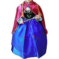 Alva Shop Prinzessin Kostüm Kinder Glanz Kleid Mädchen Weihnachten Verkleidung Karneval Party Halloween Fest