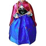 Prinzessin Kostüm Kinder Glanz Kleid Mädchen Weihnachten Verkleidung Karneval Party Halloween Fest