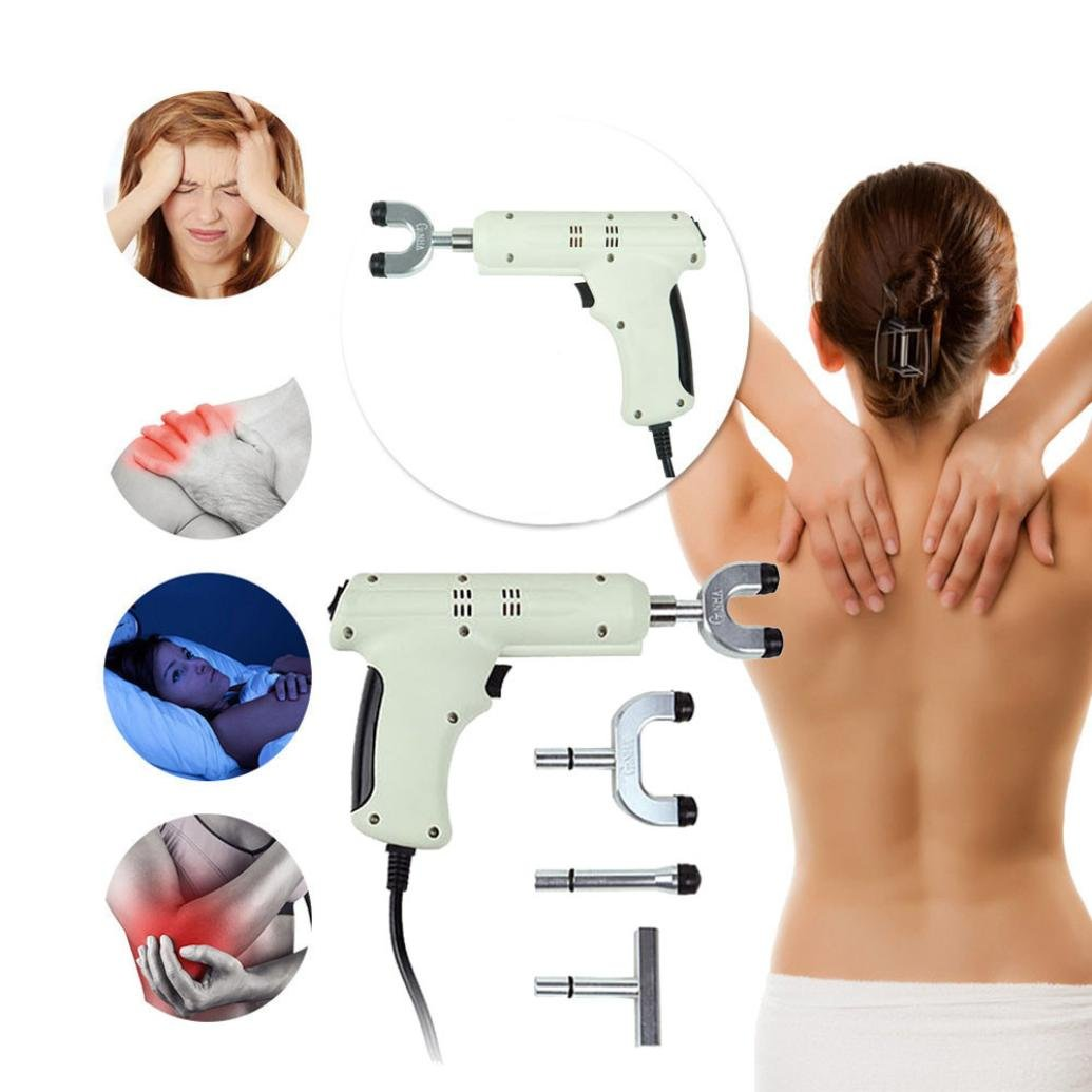 Spine Activator Massager , OUBAO Electric Chiropractic Adjusting Tool Therapy Spine Activator Massager White