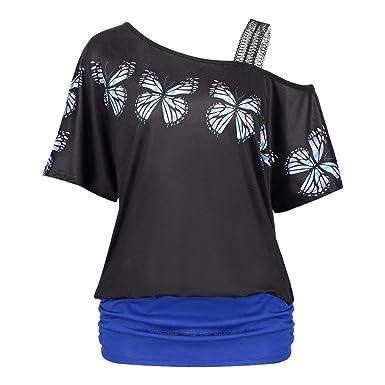 a51da360f0f2 T-Shirt Casual des Femmes Casual Summer Imprimée Floral Shirt Robes avec  Noir à Manches