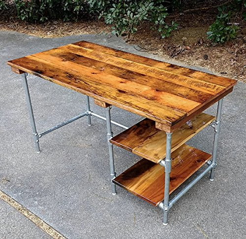 Amazon.com: Custom Desk made from reclaimed wood bar top any ...