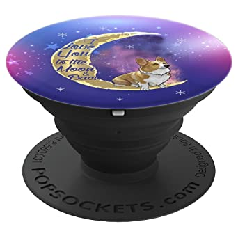 Review Corgi I Love You to the Moon & Back Stars Fun Cute Dog Lover - PopSockets Grip and Stand for Phones and Tablets