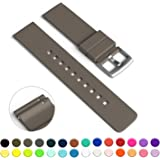 GadgetWraps 20mm Silicone Watch Strap / Band with Quick Release Pins (Dark Taupe, 20mm)